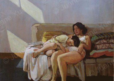 Siesta,120x120cm,1996